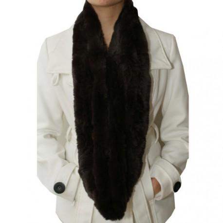 longue echarpe tube en fourrure pour femme. Black Bedroom Furniture Sets. Home Design Ideas