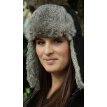 TEXTILE & RABBIT FUR HAT - REF V.011