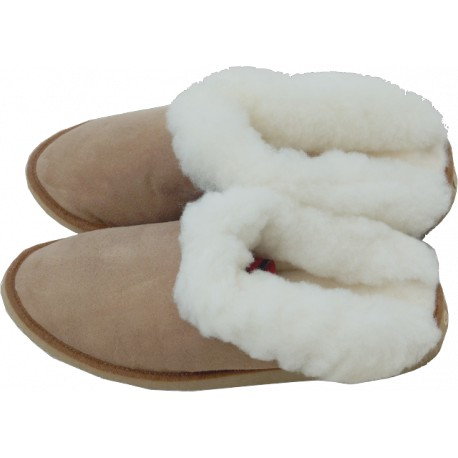 SHEEPSKIN MULE LEA-013 red or brown