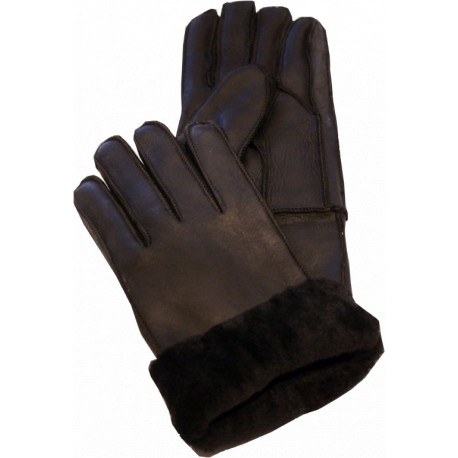 GLOVES IN BLACK LAMBSKIN MIXED