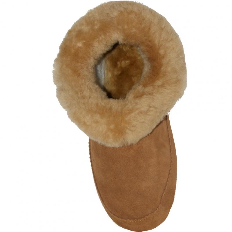 chausson d 39 int rieur en peau de mouton pour femme semelle int rieure en laine. Black Bedroom Furniture Sets. Home Design Ideas