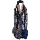 REX RABBIT AND FOX FUR SCARF