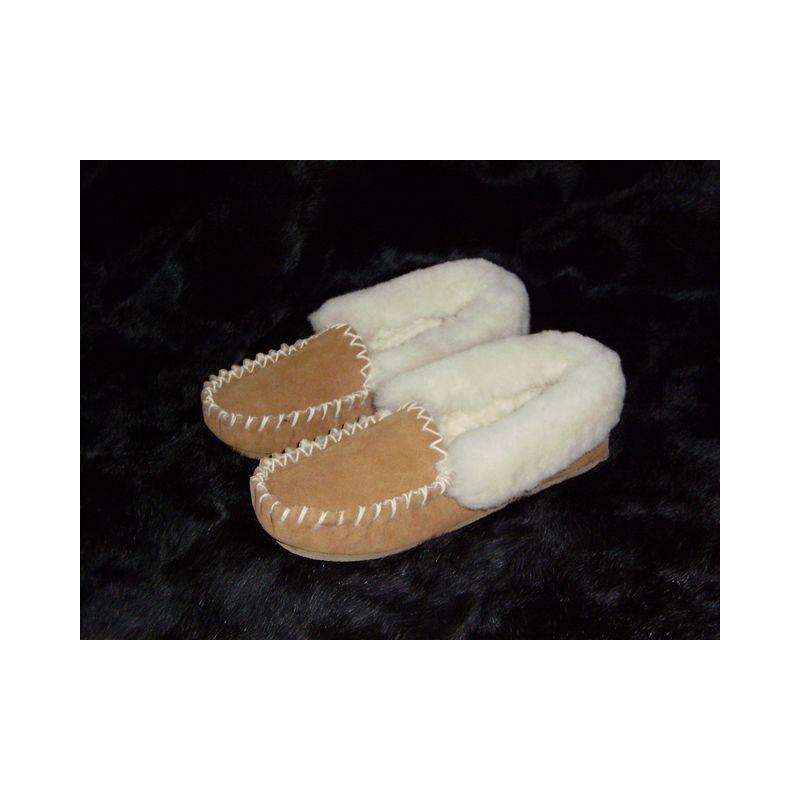 chausson mocassin peau de mouton. Black Bedroom Furniture Sets. Home Design Ideas
