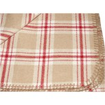 SCOTTISH TARTAN CHALET RUG RED-BEIGE-IVORY