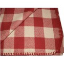 SCOTTISH WOOLLEN RUG/BLANKET BEIGE-RED