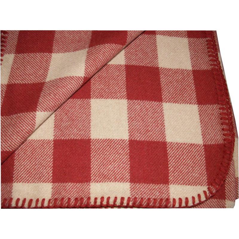 scottish woollen rug blanket beige red. Black Bedroom Furniture Sets. Home Design Ideas