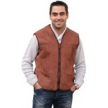 SHEEPSKIN VEST - Brown Waxed