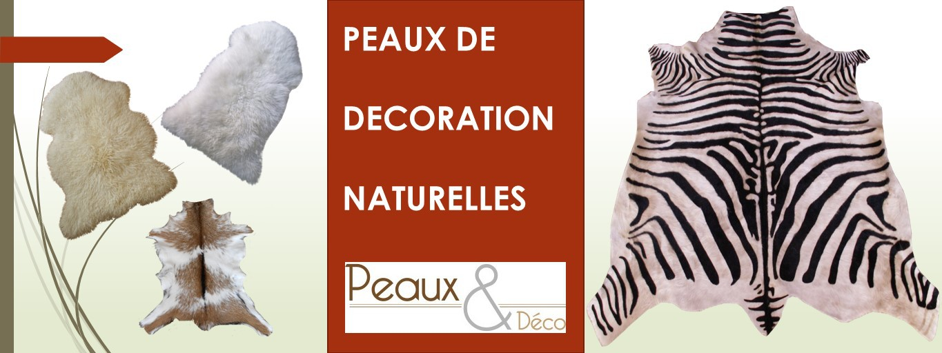 decoration peaux mouton vache zebre